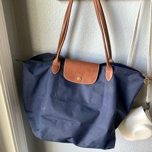 navy longchamp bag